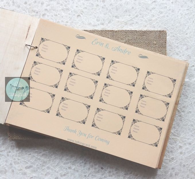 Wooden Goni Guestbook by TalkingCard - 001