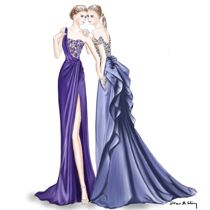 Bridal Illustrations by Draw A Story - 007