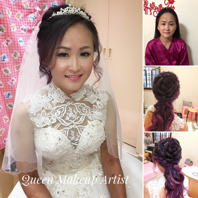 Bride's photos taken by my phone by Queen Makeup Artist - 016