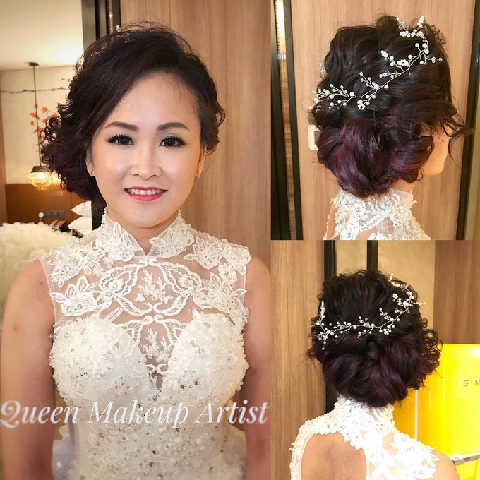 Bride's photos taken by my phone by Queen Makeup Artist - 017