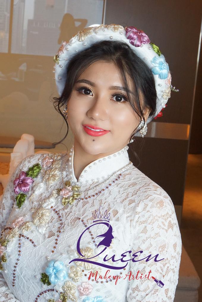 Pretty Vietnamese Bride by Queen Makeup Artist - 001