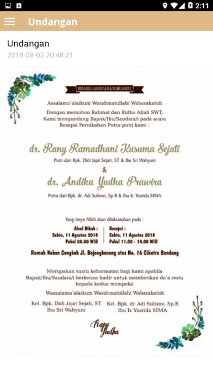 Rany & Yudha Wedding by Wedding Apps - 003