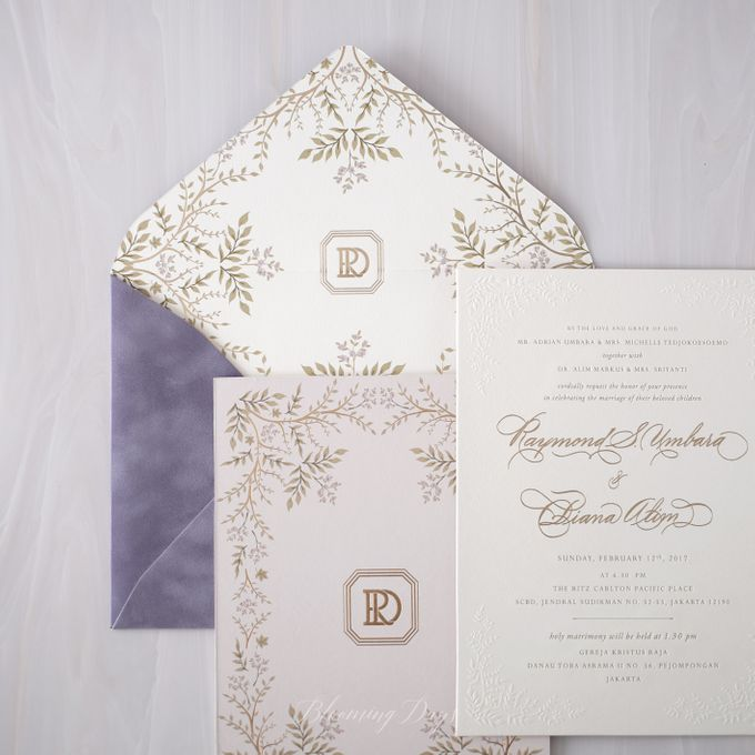 DAZZLING VIOLET by BloomingDays Invitation Studio - 001