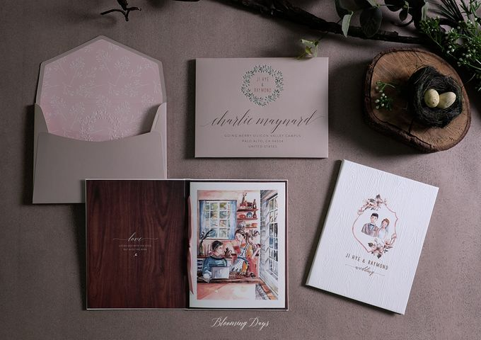 A LOVE STORY by BloomingDays Invitation Studio - 001