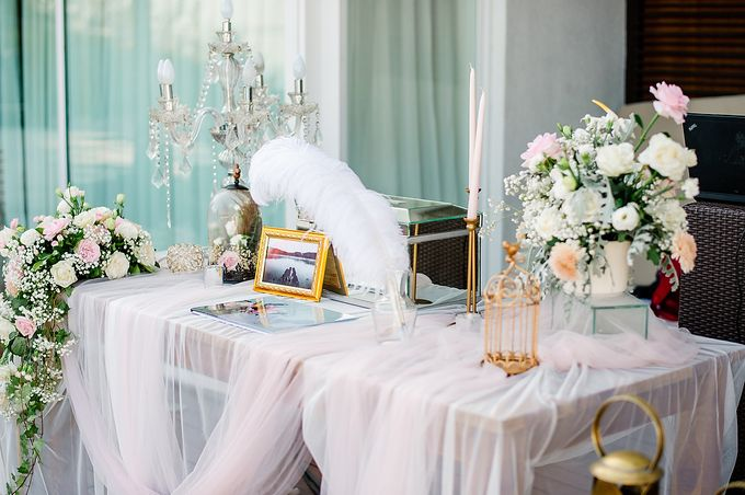 Elegant Rose Gold & Blush by Bali Izatta Wedding Planner & Wedding Florist Decorator - 005