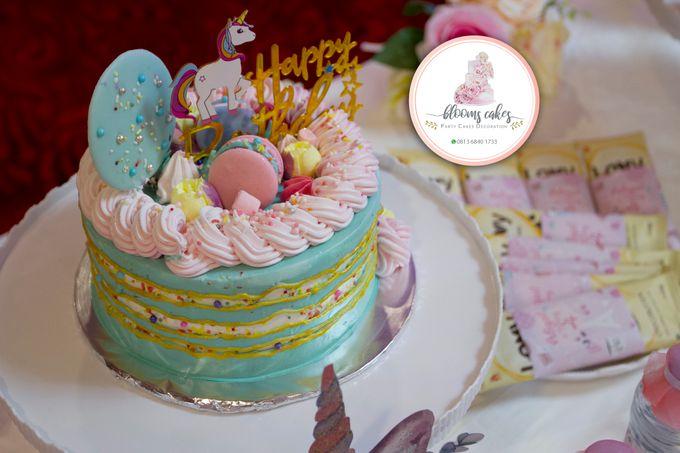Custom Wedding Cake by Bloomscake Wedding - 027
