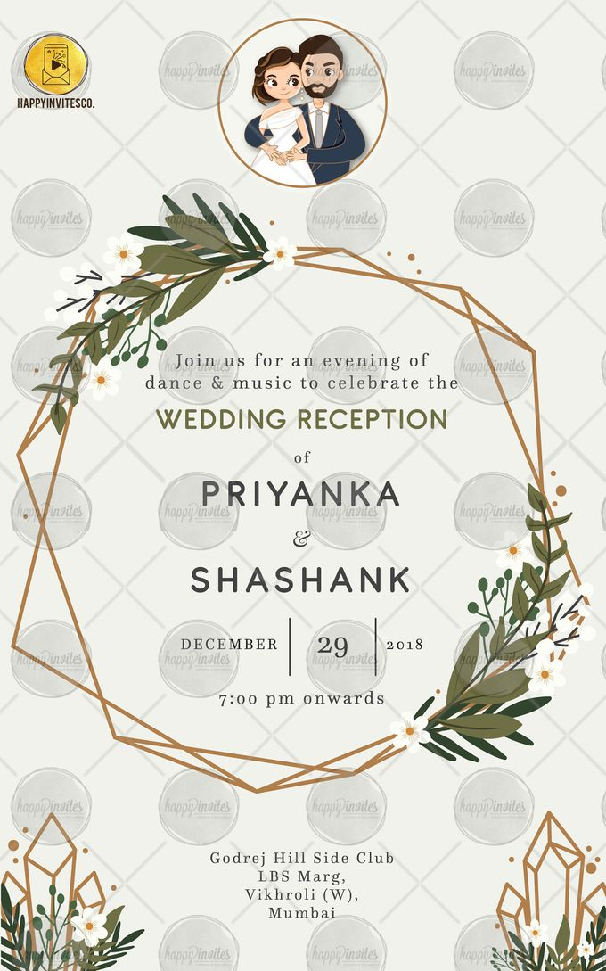 FLORAL THEME WEDDING INVITATION VIDEO  SAVE THE DATE INVITES by Happy Invites - 006