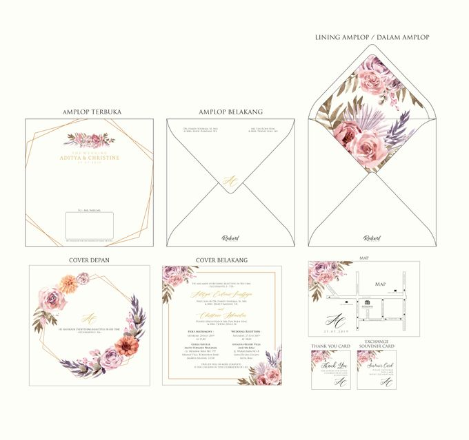 "Template Design "" Hardcover in Square shape "" by Red Card - 001"