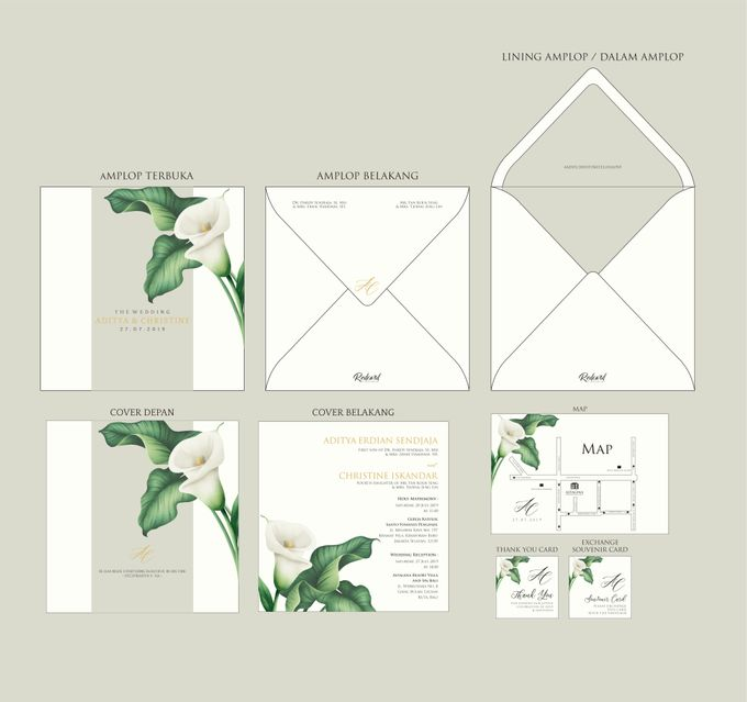 "Template Design "" Hardcover in Square shape "" by Red Card - 002"