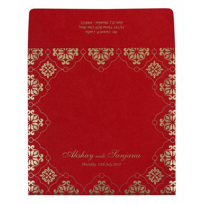 Wedding invitation design for Akshay & Sanjana wedding by 123WeddingCards - 002