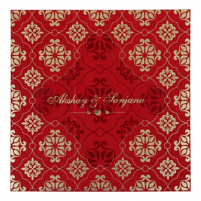Wedding invitation design for Akshay & Sanjana wedding by 123WeddingCards - 003