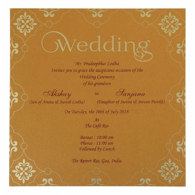 Wedding invitation design for Akshay & Sanjana wedding by 123WeddingCards - 004