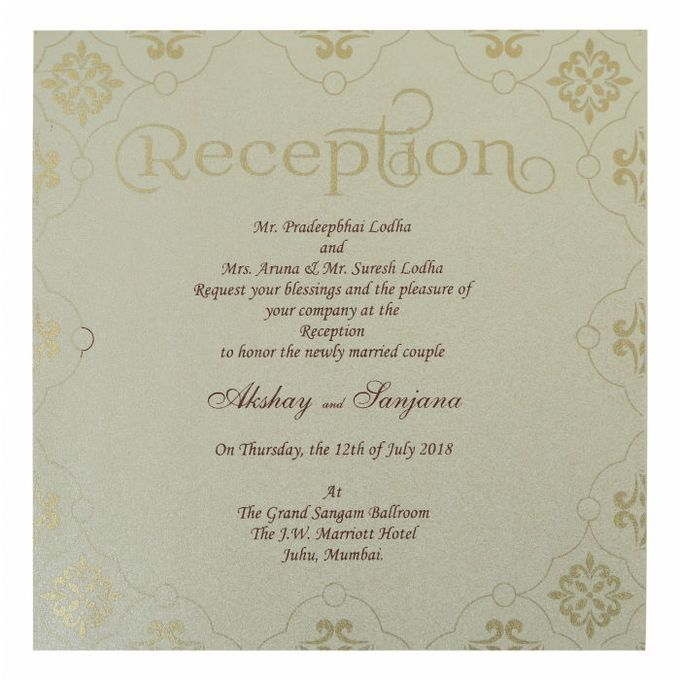 Wedding invitation design for Akshay & Sanjana wedding by 123WeddingCards - 005