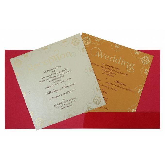 Wedding invitation design for Akshay & Sanjana wedding by 123WeddingCards - 006