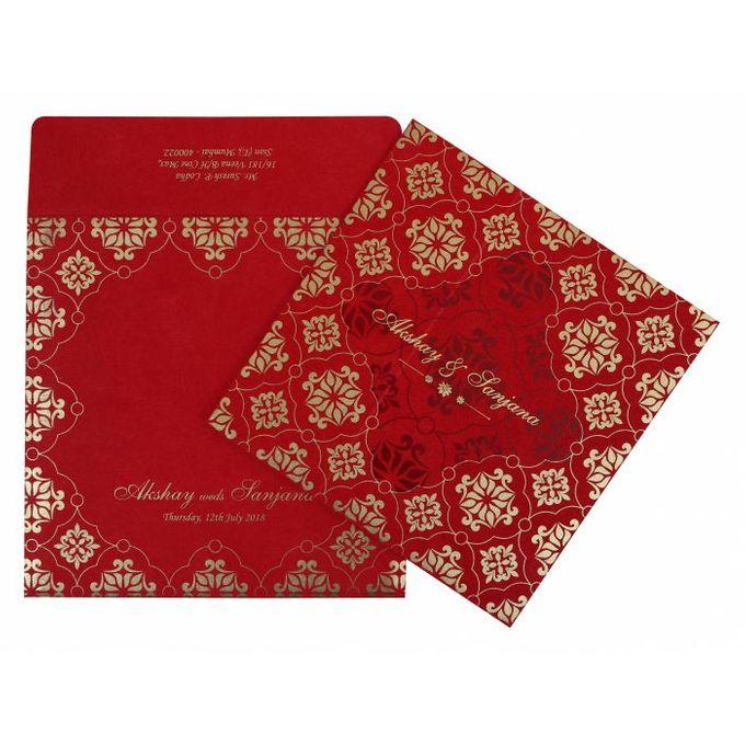 Wedding invitation design for Akshay & Sanjana wedding by 123WeddingCards - 007