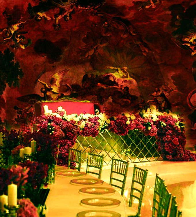 Red Reception with multimedia 3d decorations by 7 Sky Event Agency - 001