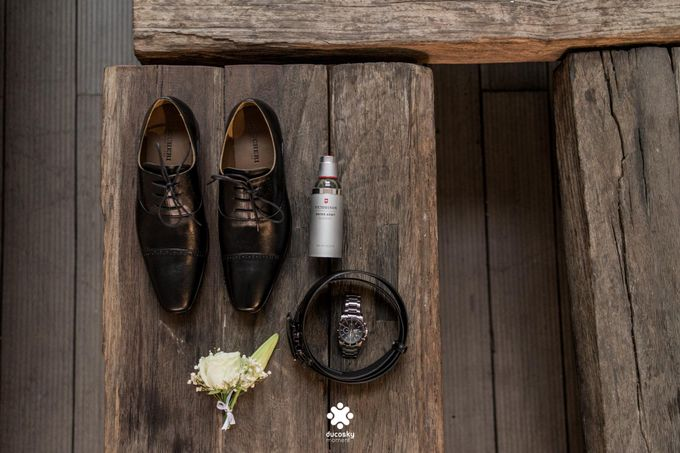 Rendy Evelyn Wedding | Groom's Morning Preparation by Ducosky - 002