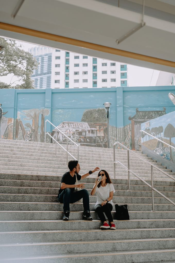 Cityscape Prewedding Session Singapore Baghaz & Yesi by Hexa Images - 036