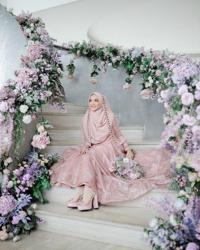 Rosegold Sparkling Sahaja Series by LAKSMI - Kebaya Muslimah & Islamic Bride - 006