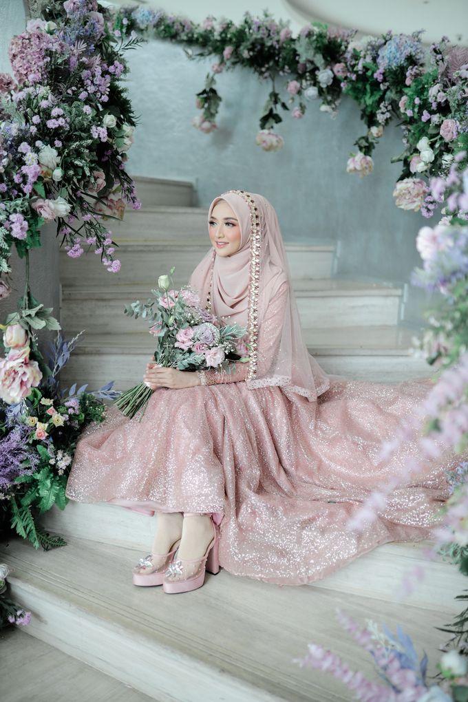 Rosegold Sparkling Sahaja Series by LAKSMI - Kebaya Muslimah & Islamic Bride - 004