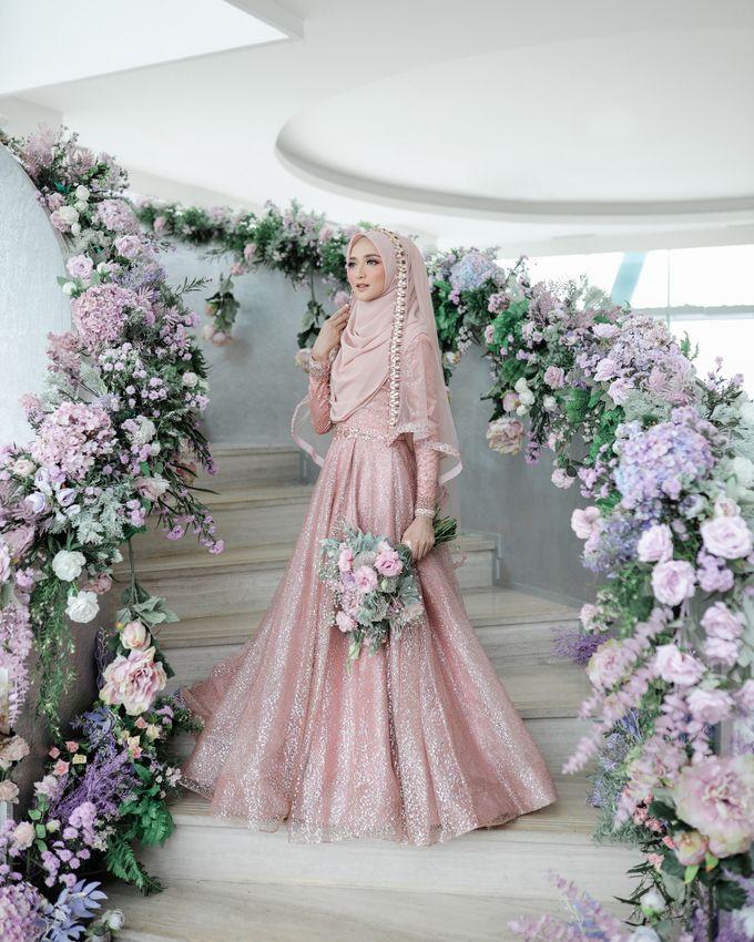 Rosegold Sparkling Sahaja Series by LAKSMI - Kebaya Muslimah & Islamic Bride - 001