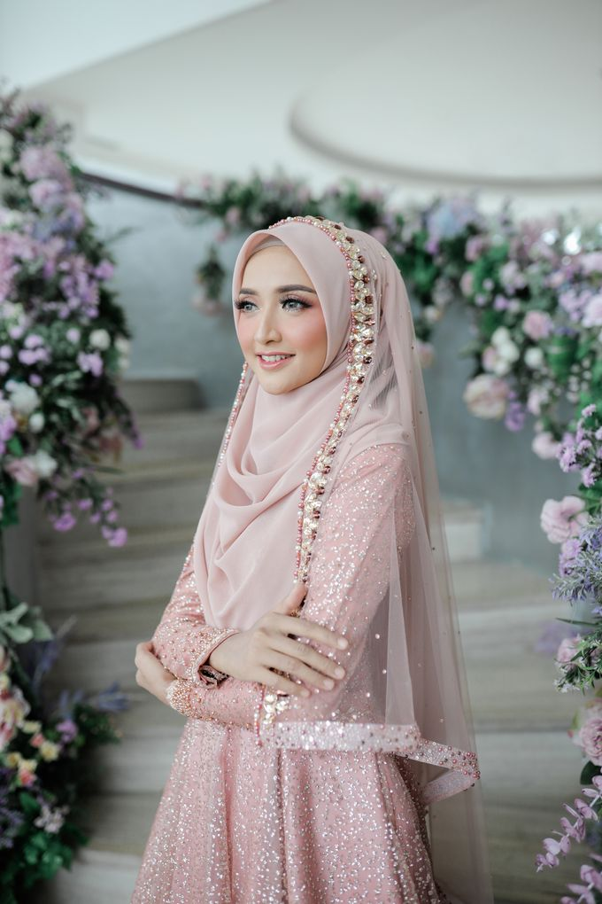 Rosegold Sparkling Sahaja Series by LAKSMI - Kebaya Muslimah & Islamic Bride - 002