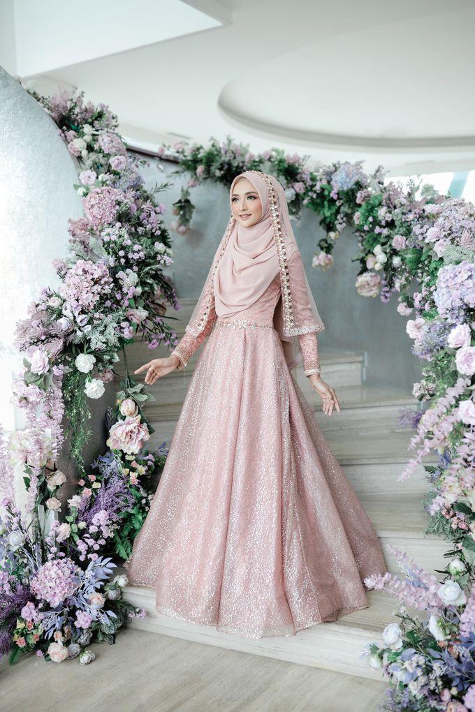 Rosegold Sparkling Sahaja Series by LAKSMI - Kebaya Muslimah & Islamic Bride - 005
