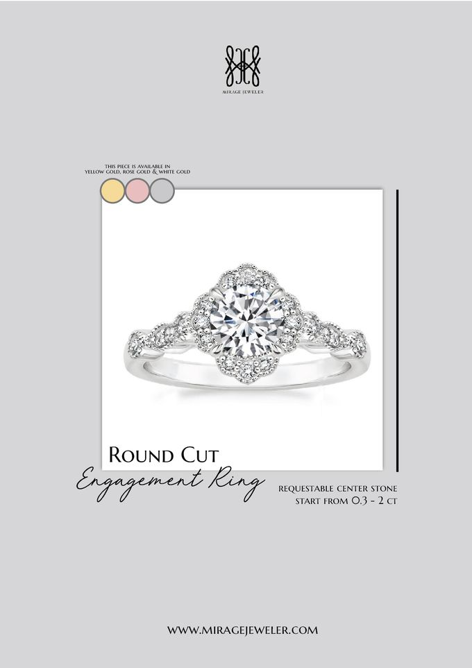 ROUND Center Engagement Ring by Mirage Jeweler - 004