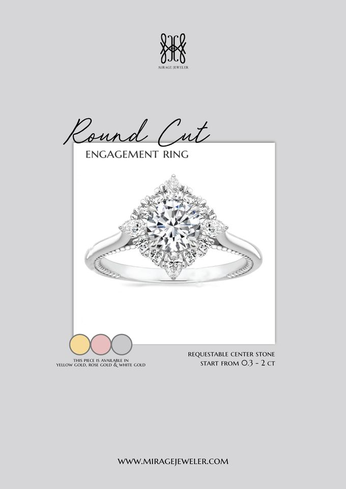 ROUND Center Engagement Ring by Mirage Jeweler - 002