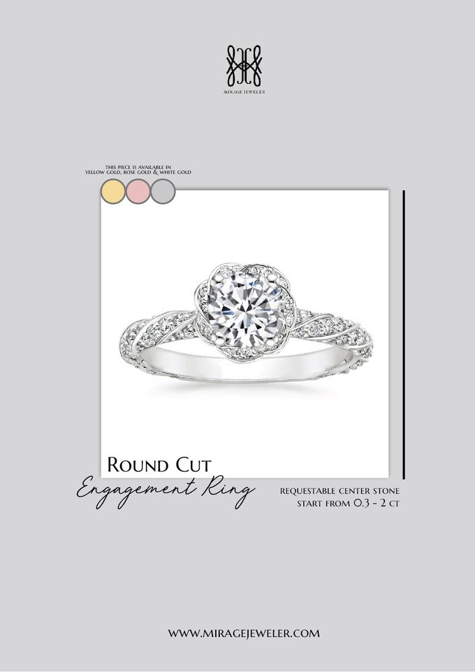 ROUND Center Engagement Ring by Mirage Jeweler - 007
