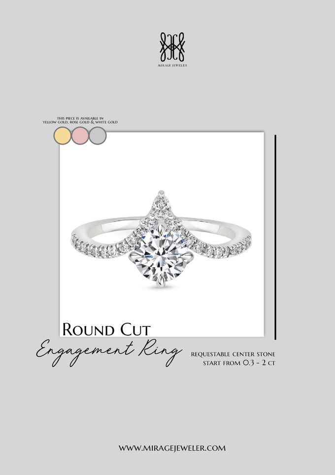 ROUND Center Engagement Ring by Mirage Jeweler - 006