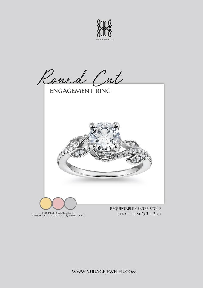 ROUND Center Engagement Ring by Mirage Jeweler - 010