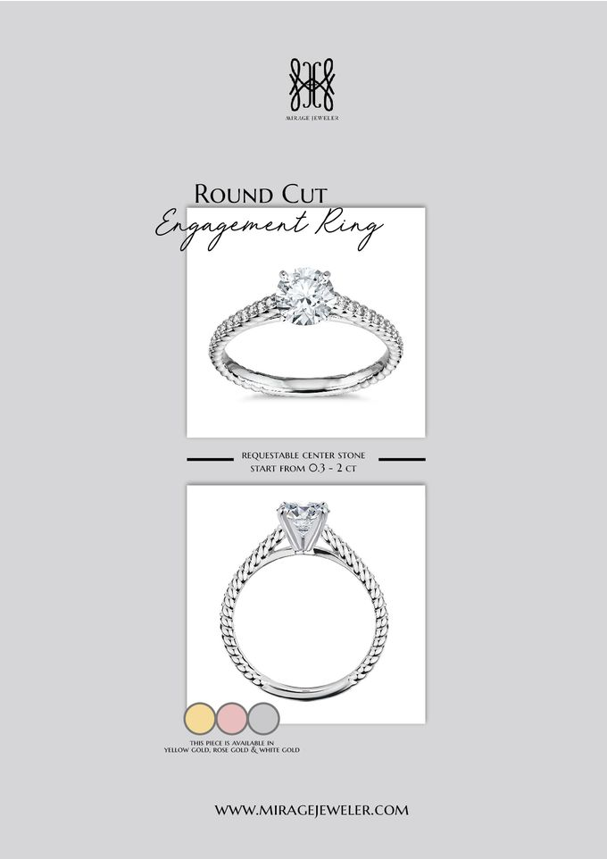 ROUND Center Engagement Ring by Mirage Jeweler - 011
