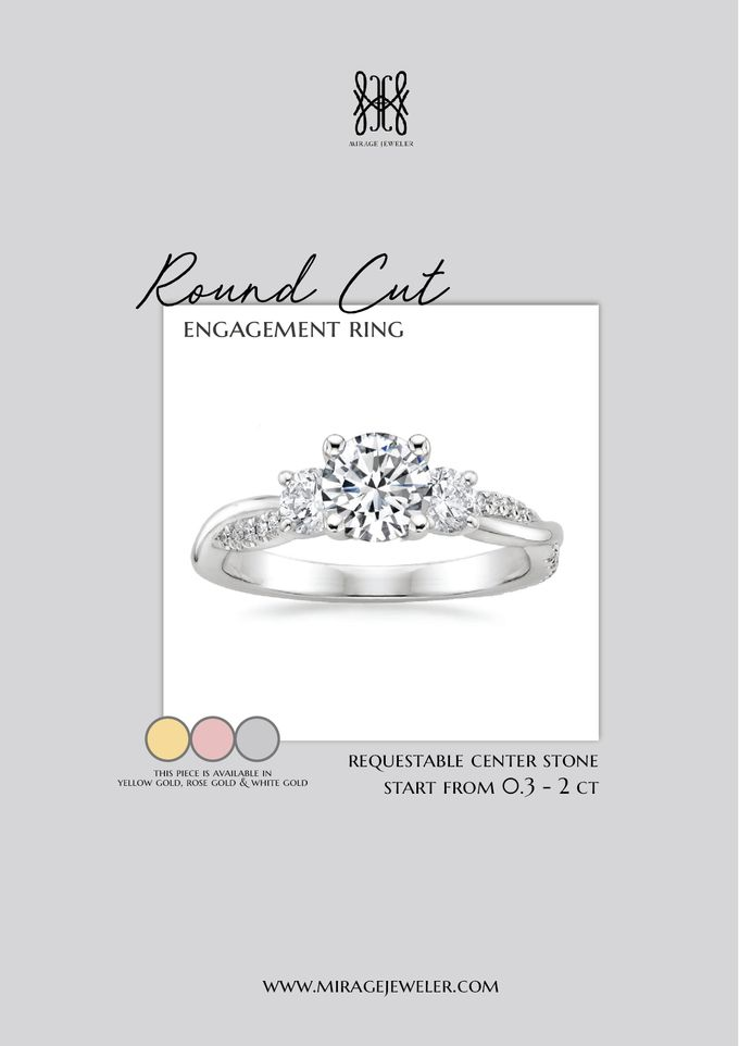 ROUND Center Engagement Ring by Mirage Jeweler - 012