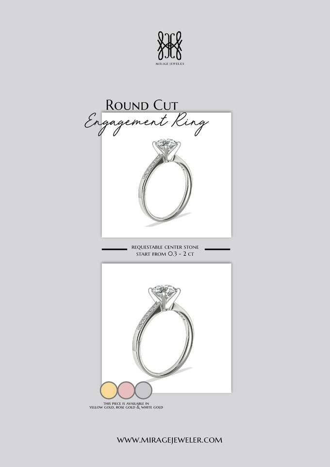 ROUND Center Engagement Ring by Mirage Jeweler - 013