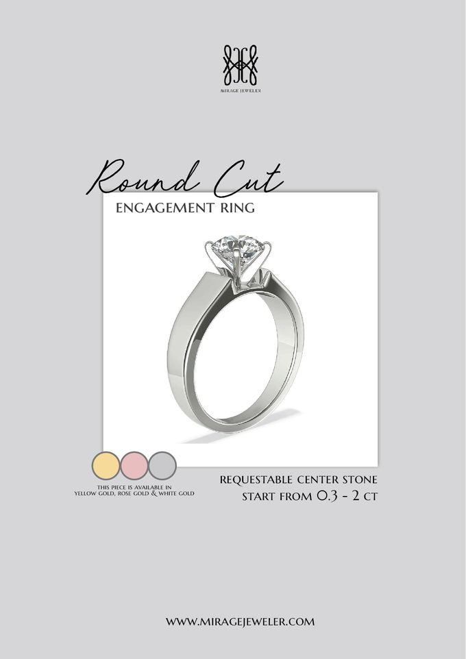 ROUND Center Engagement Ring by Mirage Jeweler - 003