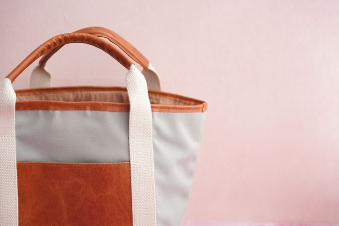 Tote Bag Leather & Canvas - Gary & Feni by Rove Gift - 003