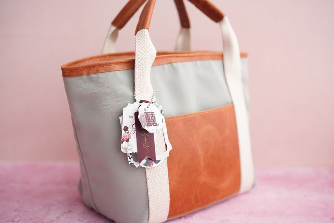 Tote Bag Leather & Canvas - Gary & Feni by Rove Gift - 002