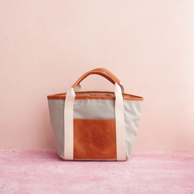 Tote Bag Leather & Canvas - Gary & Feni by Rove Gift - 004