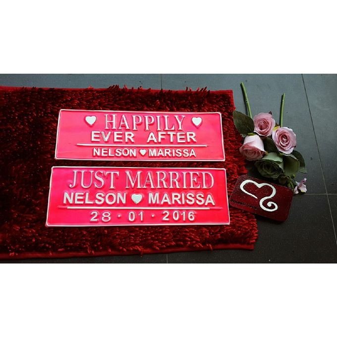 Wedding Car Plate by Sweetlovecollection - 028