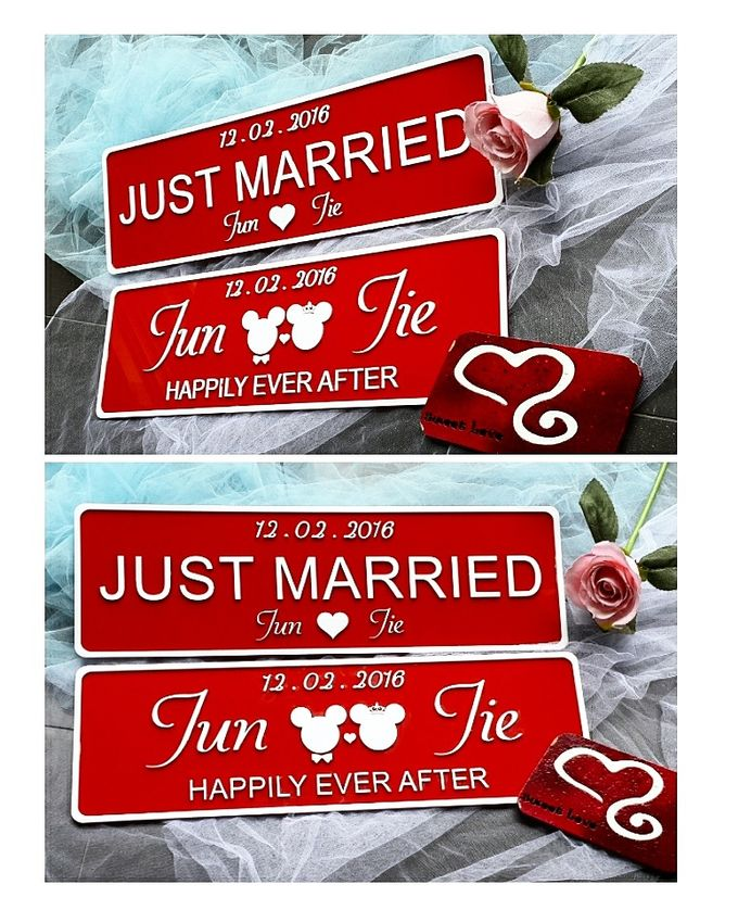 Wedding Car Plate by Sweetlovecollection - 013