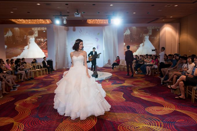 Bridal Gown Fashion Show At Mandarin Orchard Singapore by La Belle Couture Weddings Pte Ltd - 026