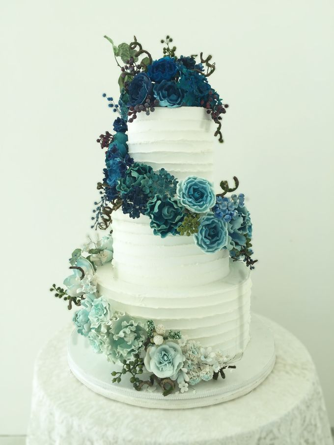 3 layers wedding cakes by LeNovelle Cake - 007