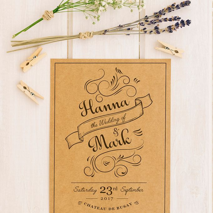 Rustic or Floral Wedding Invitations by Designs by Melissa Tan - 002