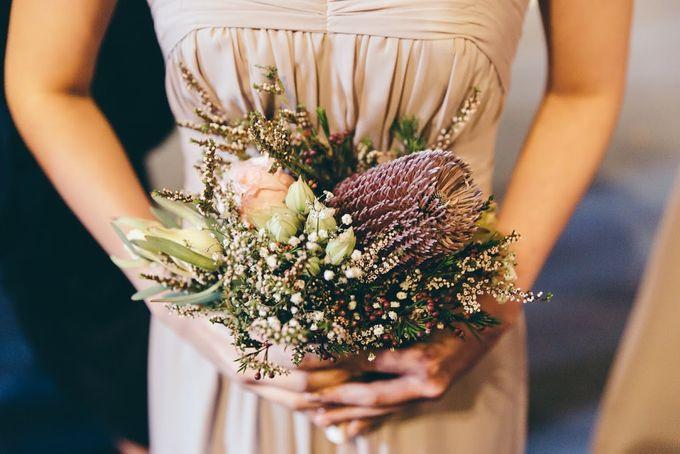 Rustic Bridal Bouquet by Petit Petal - 001
