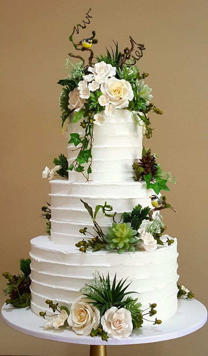 3 layers wedding cakes by LeNovelle Cake - 009