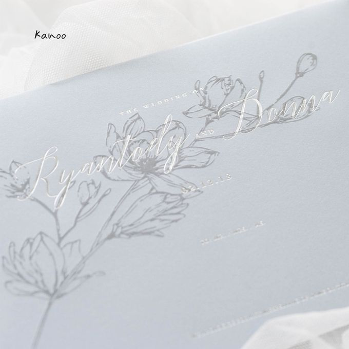Wedding Invitation - Silvery Dusty Blue by Kanoo Paper & Gift - 003