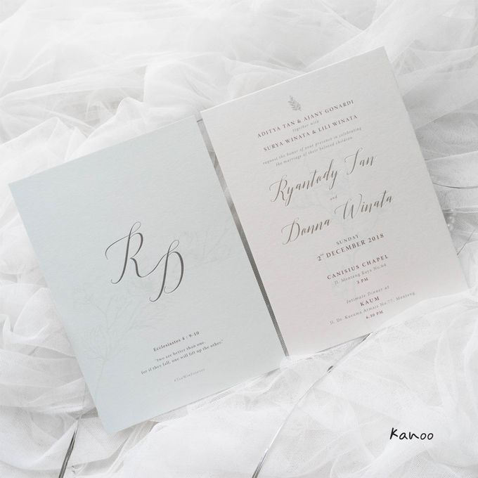 Wedding Invitation - Silvery Dusty Blue by Kanoo Paper & Gift - 005
