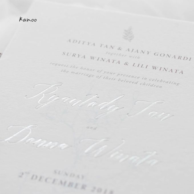 Wedding Invitation - Silvery Dusty Blue by Kanoo Paper & Gift - 006
