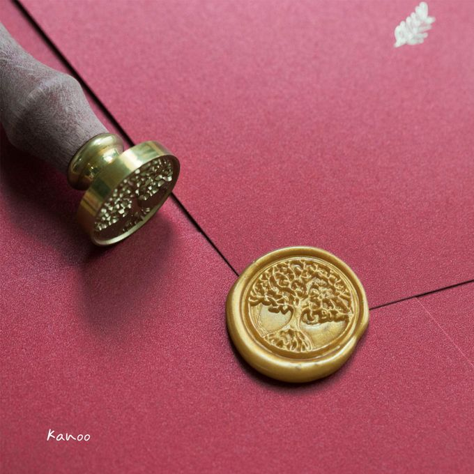 Wedding Invitation - Elegant Marron with Gold by Kanoo Paper & Gift - 003